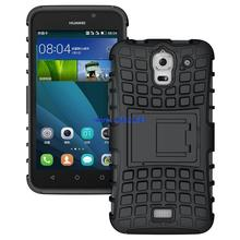 200pcs Shockproof Kickstand Rugged Hybrid Armor Combo Stand Case For Huawei Ascend Y3 Y360 Y336 Phone Cover Cases