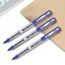 Deli 3 sztuk lot bezpośredni płynny długopis koraliki z węglika wolframu długopis uczeń czarny długopis 0.5mm długopis żelowy S656