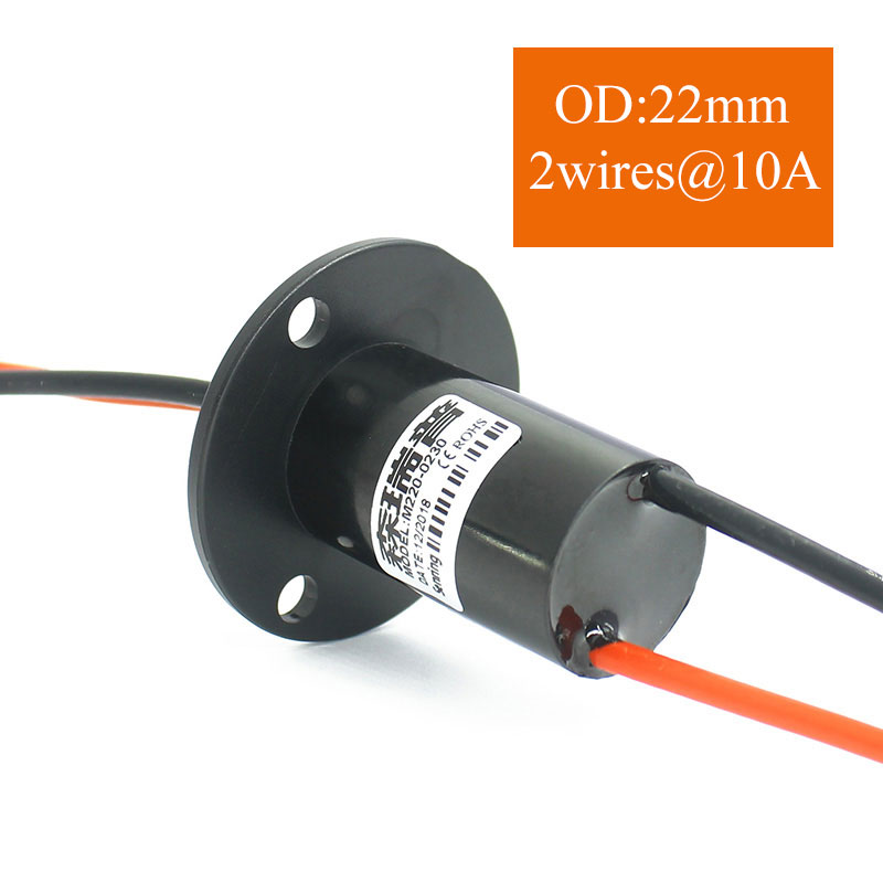 Cap Slipring Wind Generator 30A Large Current Slip Ring 3 Channels Capsule Slip Rings Rotary Joint Head