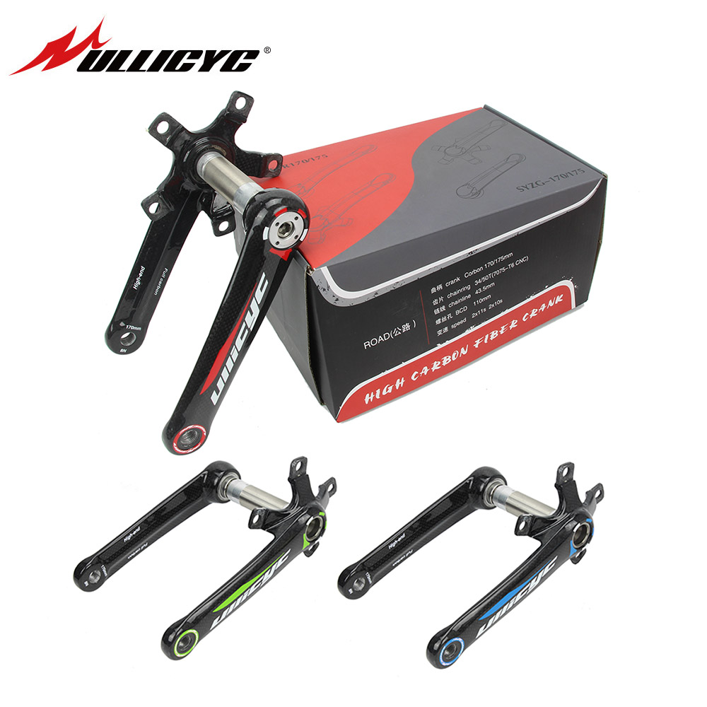 Ullicyc Carbon Fiber Bicycle Crank Road Bike Crankset Carbon Crank Road Bike Crank BCD110 Lenght 170mm 440g Bike Accessaries new asiacom full carbon fiber cycling bicycle crank mtb road bike crankset length 170mm ultra light mountain bicycle parts