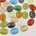 50pcs Mixed color cat eye stone flatback oval beads DIY opal oval beads for jewelry making free shipping CP0052