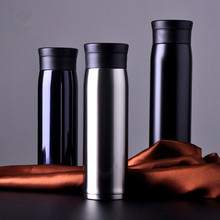 free shipping Stainless steel vacuum bottle business office gift cup stainless adiabatic hot water