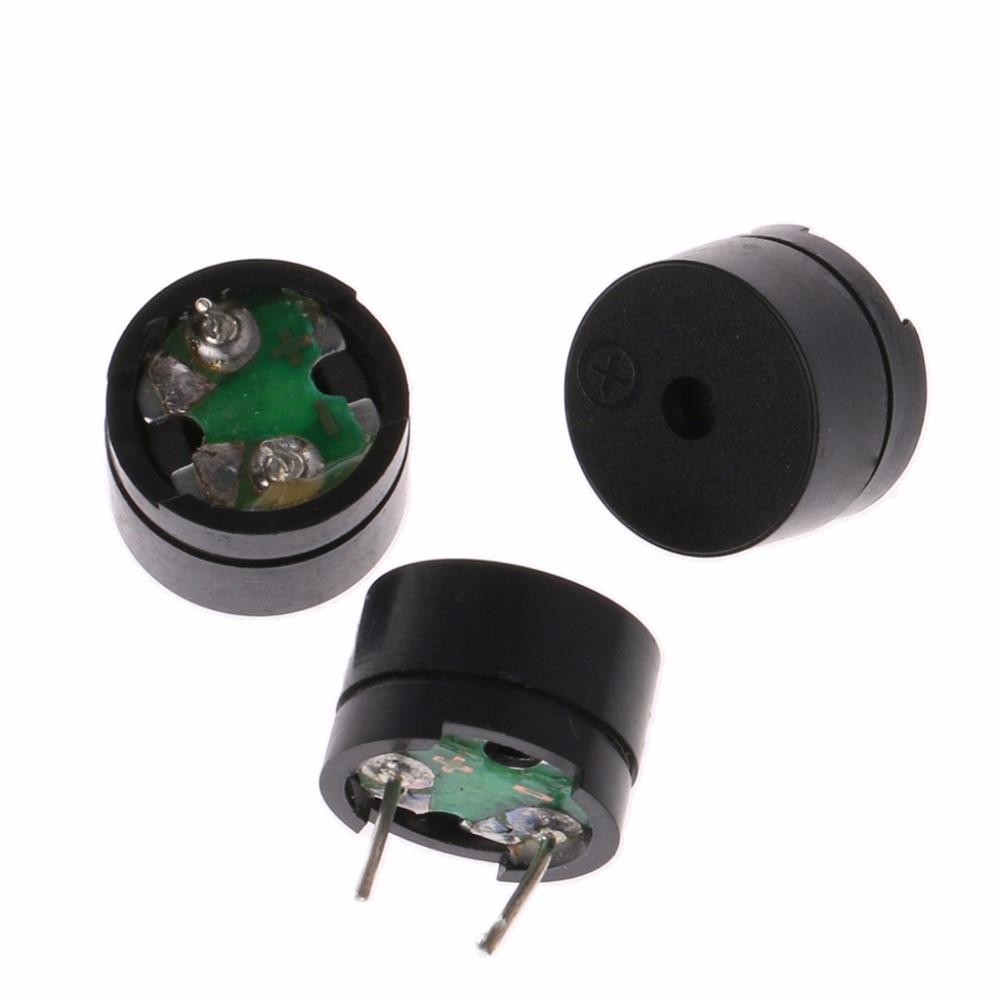 10 Pcs 2Pin Passive Electronic Alarm Buzzer 12x8.5mm 12085 16Ohm Resistance 3/5/9/12V Acoustic Components Z25 Drop ship ...