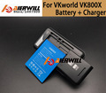 Низкая цена 1 ШТ. Стол Док Зарядное Устройство + Для VKworld VK800X батарея 2200 мАч Литий-Ионная Батарея Для VKworld VK800X + в на складе