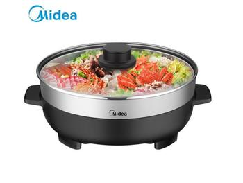 Midea Korean style Home MC-DY32Power301 4.5L Hot Pot Frying Machine Electric Stove Cooker Frying Grilled Fish Pan braise stew air frying pan new special price large capacity intelligent oil smoke free fries machine automatic electric frying pan 220v 3l