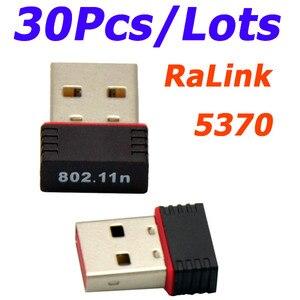 Image 1 - Vente en gros 30 pièces/lot Ralink 5370 150Mbps sans fil Mini WiFi USB adaptateur LAN carte réseau adaptateur pour SKYBOX/Openbox/STB