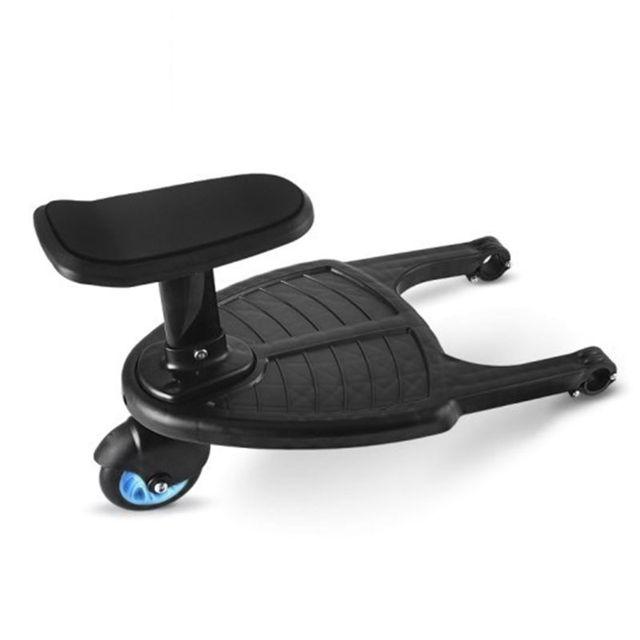Adaptador de Pedal de cochecito de Niños de moda segundo remolque auxiliar gemelos Scooter Hitchhiker niños Placa de pie con asiento