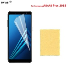 Clear LCD Screen Protector for Samsung Galaxy A8 Plus 2018 Protective Film for Samsung A8 Plus 2018 Screen Protector Film Foil pudini protective clear screen protector film guard for samsung galaxy express i8730 transparent