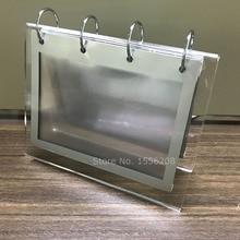 Desktop Acrylic Calendar Frame Display For 6 Inch Photos,Menu,or DIY Calendar Page metal frame glasses page 6
