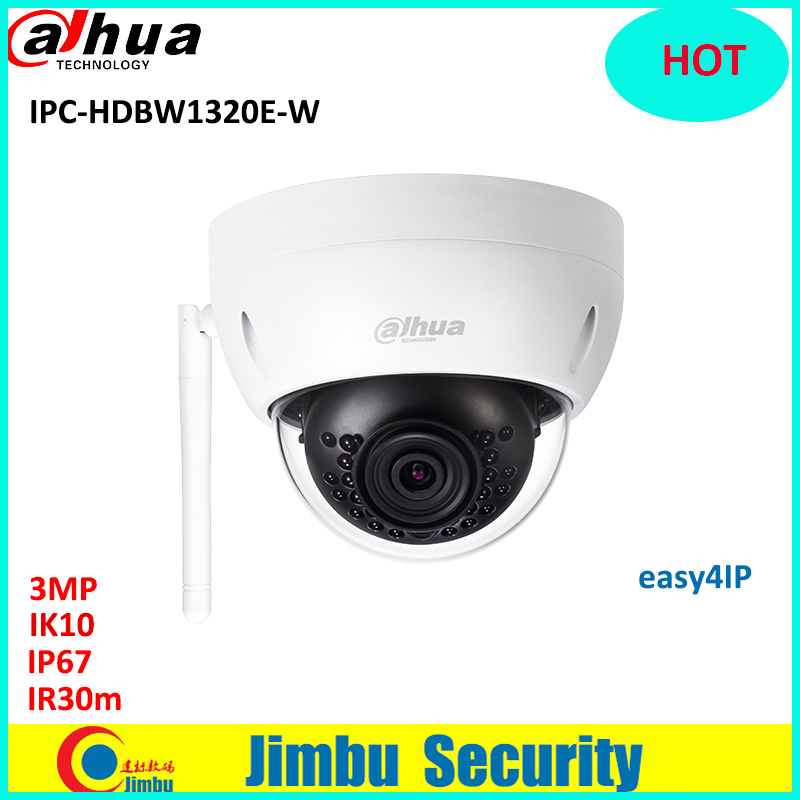 Dahua IP wifi easy4ip camera 3mp IPC-HDBW1320E-W wifi camera p2p cctv Camera Micro SD card slot, up to 128GB