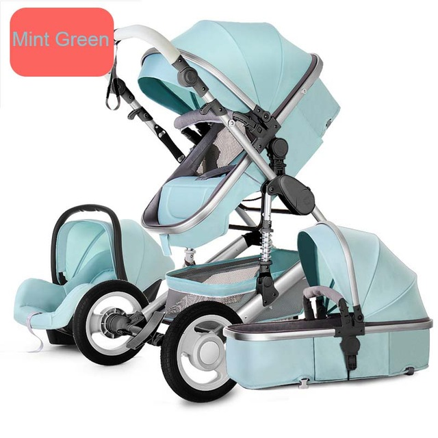 Multifunction Luxury Baby Stroller 2 in 1 Baby Stroller Carriage Basket High Landscape Four Wheels Stroller Baby Safe Seat(China)