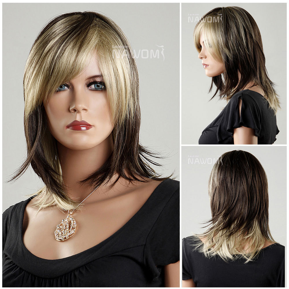 0aec00b9bd3322 root color wigs synthtic women wigs high quality wigs for women natural  looking wig realistic wigsZL1018-6B24