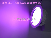 Color Exchange DMX Compitable High Power 36W LED RGB Downlight EDISON Chip Good Quality DS CSL