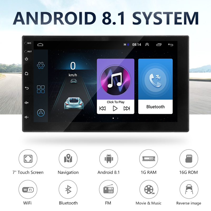 Image 2 - Vtopek car radio Android 7'' HD Car Multimedia player Touch Screen GPS Navigation Bluetooth Mirror link FM 1024*600 Rear View-in Car Radios from Automobiles & Motorcycles