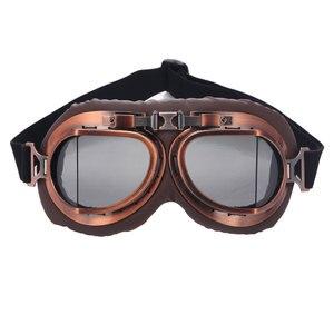 Roaopp الرجعية نظارات للدراجات النارية نظارات خمر موتو الكلاسيكية نظارات ل هارلي الطيار Steampunk من ATV الدراجة النحاس خوذة