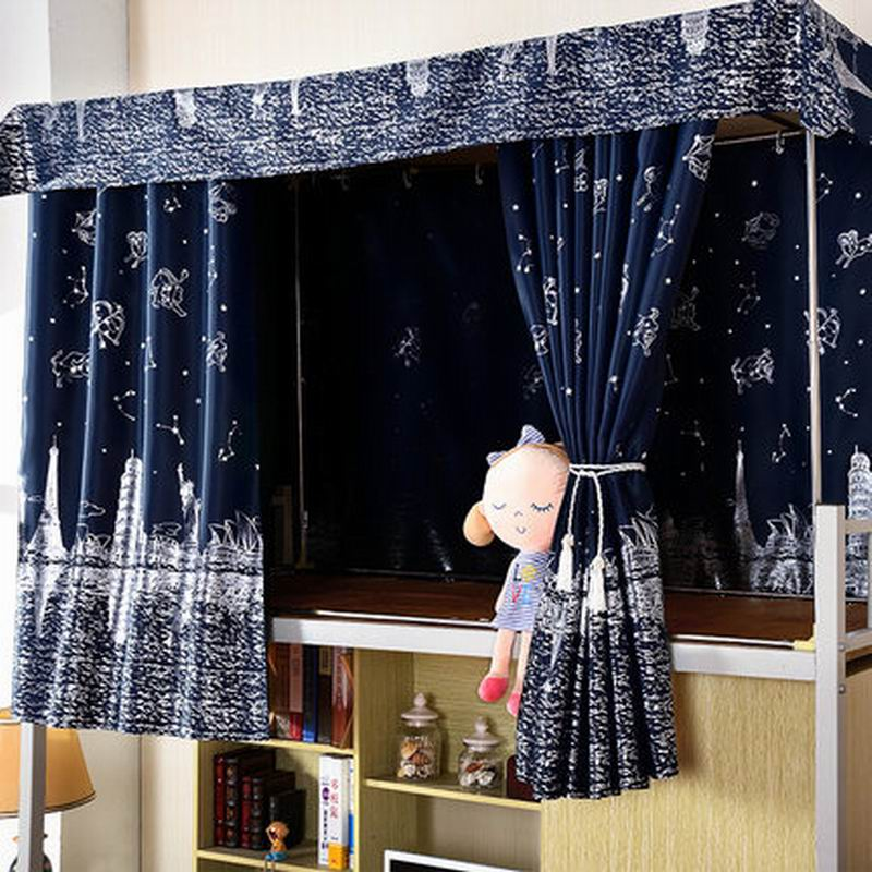 Student dormitory The curtains of the bed On the lower berth Mosquito net Single bed dustproof Super shading