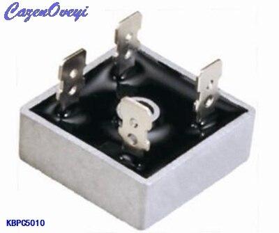 2pcs/lot KBPC5010 50 A Bridge Rectifier 1000V 50Amp Metal Case For Maximum Heat Dissipation 1000V 2.8cm Square Diode Bridge
