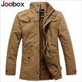 2017 Nueva llegada del estilo británico trench coat de los hombres gruesa caliente abrigo de lana largo invierno chaqueta de los hombres slim fit marca-ropa (FY009)