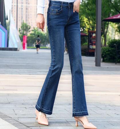 Jeans De Adelgazamiento Algodón Nueva Moda Capris Casual Mezcla Denim Pantalones Y Mujer Tamaño Primavera Plus Flare Otoño Tyn0907 58zrnqz