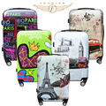 NEW Women Men Trolley Luggage 1 Piece Vintage Colorful 20 24 inches Hardside Spinner Rolling Suitcase Cabin Bag Fochier