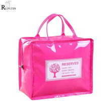 лучшая цена RUPUTIN PU Lunch Ice Pack Food Insulation Storage Bags Cooler Lunch Box Thermal Lunch Bag For Child Portable Outdoor Picnic Bag
