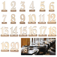 Number 1 20 Seat Card Wooden Wedding Party Table Supplies High end Density Board Place Holder Table Number