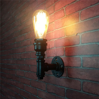 Industrial Water Pipe Vintage Wall Lamp Creative Nostalgia Style Restaurant Warehouse Loft Iron Water Pipe Retro