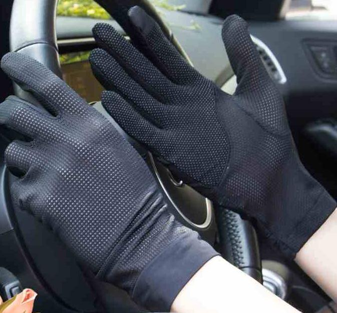 Men's Spring And Summer Thin Driving Gloves Male Summer Sunscreen Touch Screen Gloves Male Slip-proof Sports Glove R707