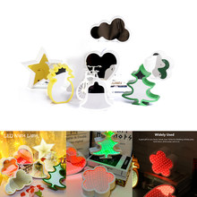 3D Creative Night Light Novelty Bell Heart Christmas Tree Star Flower Pineapple Mirror LED Tunnel Lamp Cute Gift For Kids Baby(China)