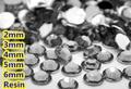 Black Diamond Color Facets Flat Back Resin Rhinestone 2mm,3mm,4mm,5mm,6mm Nail Art Gems Decoration