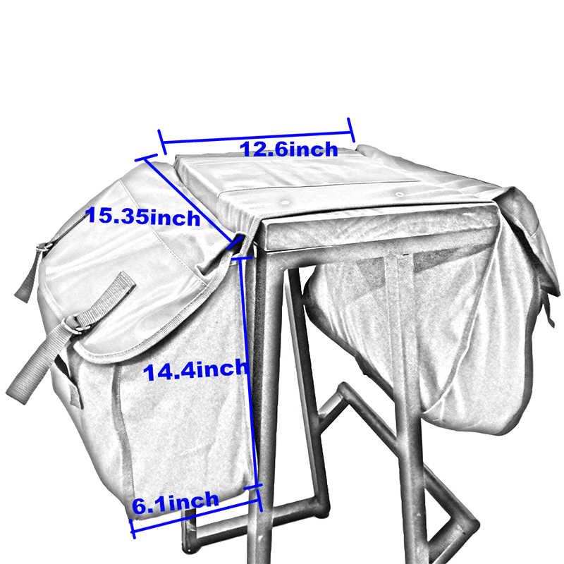 1x мотоциклетный рюкзак сумки для хранения для Yamaha мотоциклетные седельные сумки для Kawasaki Мотоцикл холщовые водонепроницаемые седельные сумки хаки