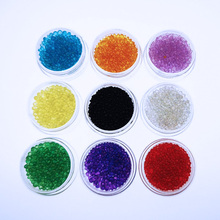 1 Box 1-3mm Mini Bubble Ball Bottom Colorful Crystal Glass Beads For DIY 3D Nail Art Decorations jewelry filling for