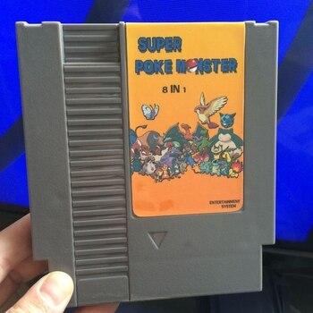 Супер Poke Game 8 в 1 синий/кристалл/зеленый/красный/серебристый/желтый золотой/монст игровая карта для 72 Pin 8 бит игровой плеер