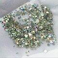 Alta calidad 1000 UNIDS Tamaños Mix Crystal Clear AB No Hotfix Flatback Rhinestoens Para Clavos de Uñas 3D Decoración Del Arte Del Clavo gemas
