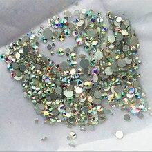 Фотография 1000PCS/Pack Mix Sizes Crystal Clear AB Non Hotfix Flatback Rhinestones Nail Rhinestoens For Nails 3D Nail Art Decoration Gems