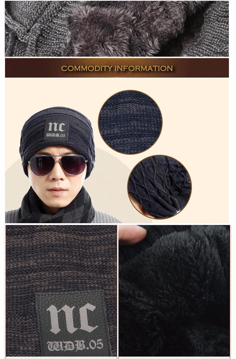FETSBUY Brand Beanies Knit Men'S Winter Hat Caps Thick Skullies Bonnet Hats For Men Women Beanie Female Warm Baggy Knitted Hat 20