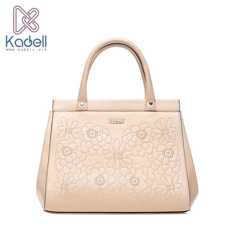 Kadell Brand Luxury Flowers Bag Women 2017 PU Leather Top-Handle Shell Handbags Office Lady Tote Bags Women Shoulder Bags