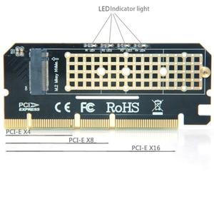 Image 5 - הגעה חדשה אלומיניום סגסוגת shell Led הרחבת כרטיס מחשב מתאם ממשק M.2 NVMe SSD כדי PCIE 3.0X16