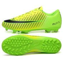 Hombres botas de fútbol Superfly zapatos de fútbol bajo-top TF FG niños  zapatillas de deporte Atlético Cleats entrenamiento al a. 72d73321577de