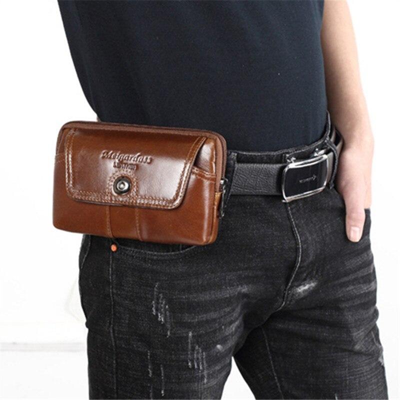 YIANG Fashion Travel Äkta Läder Mäns Cigarettangent Midja - Bälten väskor - Foto 6