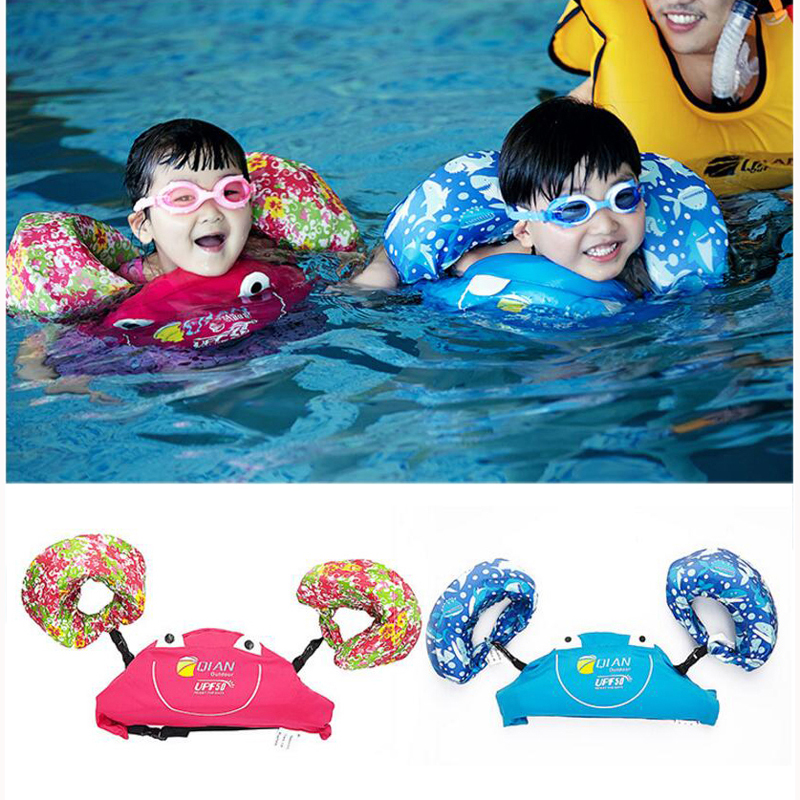 Professional Child Swim Vest Arm Float Swimming Circle Baby Swim Trainer Fishing Life Vest Water Sports Kid Swimming Accessories цена и фото