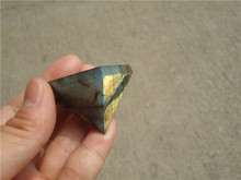 Natural Moonstone natural labradorite pyramid Decoration LA1118