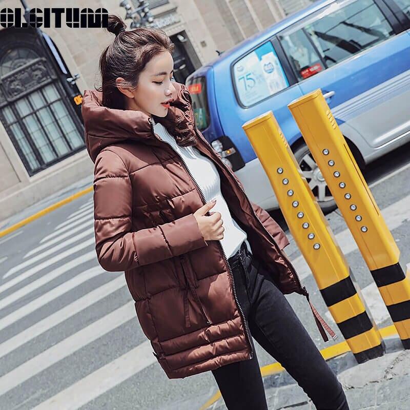 New Winter Jacket Women 2018 Autumn Winter   Parka   Women Thicken Long Sleeve Casual Outwear Down Jacket Winter Jacket Female Coat