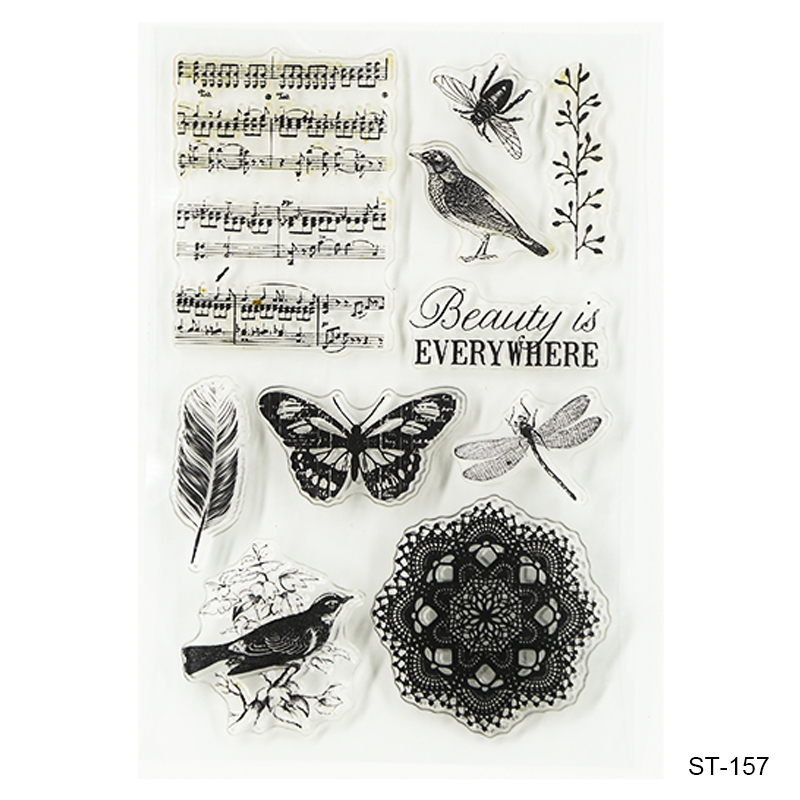 Beauty Is Every Where  Design Silicone Transparent Stamp Clear Stamps Set for DIY Scrapbooking Photo Album Decoration Supplies lovely animals and ballon design transparent clear silicone stamp for diy scrapbooking photo album clear stamp cl 278