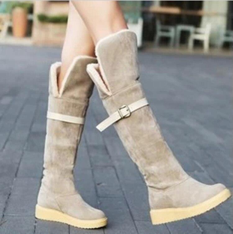 Popular Thigh High Brown Boots Flat-Buy Cheap Thigh High Brown ...