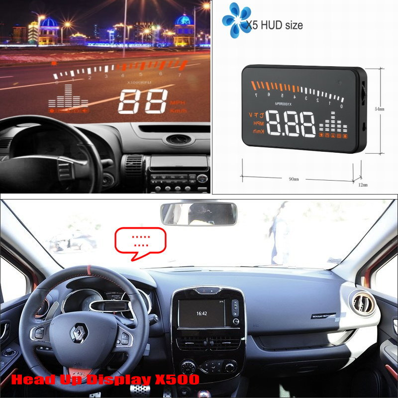 For Renault Clio III - Safe Driving Screen Car HUD Head Up Display Projector Refkecting Windshield liislee car hud head up display for fiat bravo brava ritmo 2007 2015 safe driving screen projector refkecting windshield