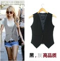 Free shipping , Plus size Fashion women suit Waistcoat , Causul Vest , Sleeveless Slim lady Vest , size S-XXXXL