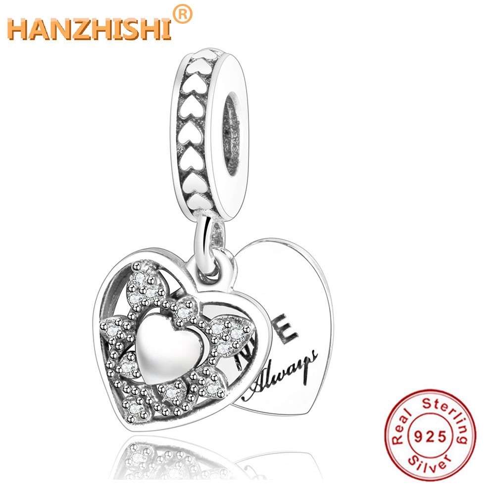 gold gift box Real 925 Silver twin Best FRIENDS BFF Hearts Dangle Dropper Charm