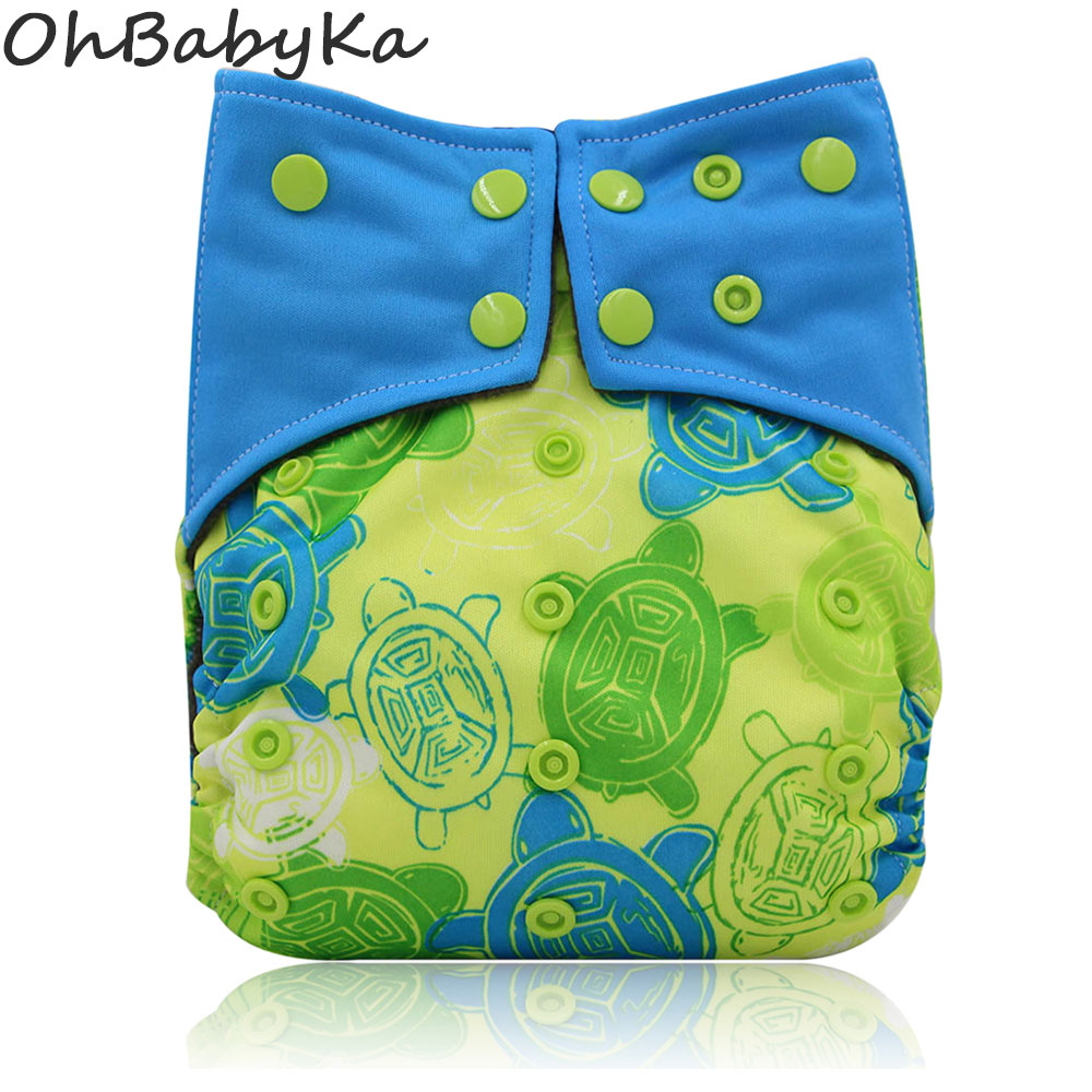 Ohbabyka Cloth Diaper All-in-two AI2 Adjustable Reusable Baby Diapers Double Gussets Cloth Diaper Cover Waterproof Pocket Diaper on AliExpress