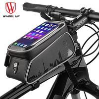 WHEEL UP Touch Screen Front Top Tube Bicycle Bags Rainproof MTB Road Cycling Bags 6.0 Inch Bike Cell Phone Cases New Selling
